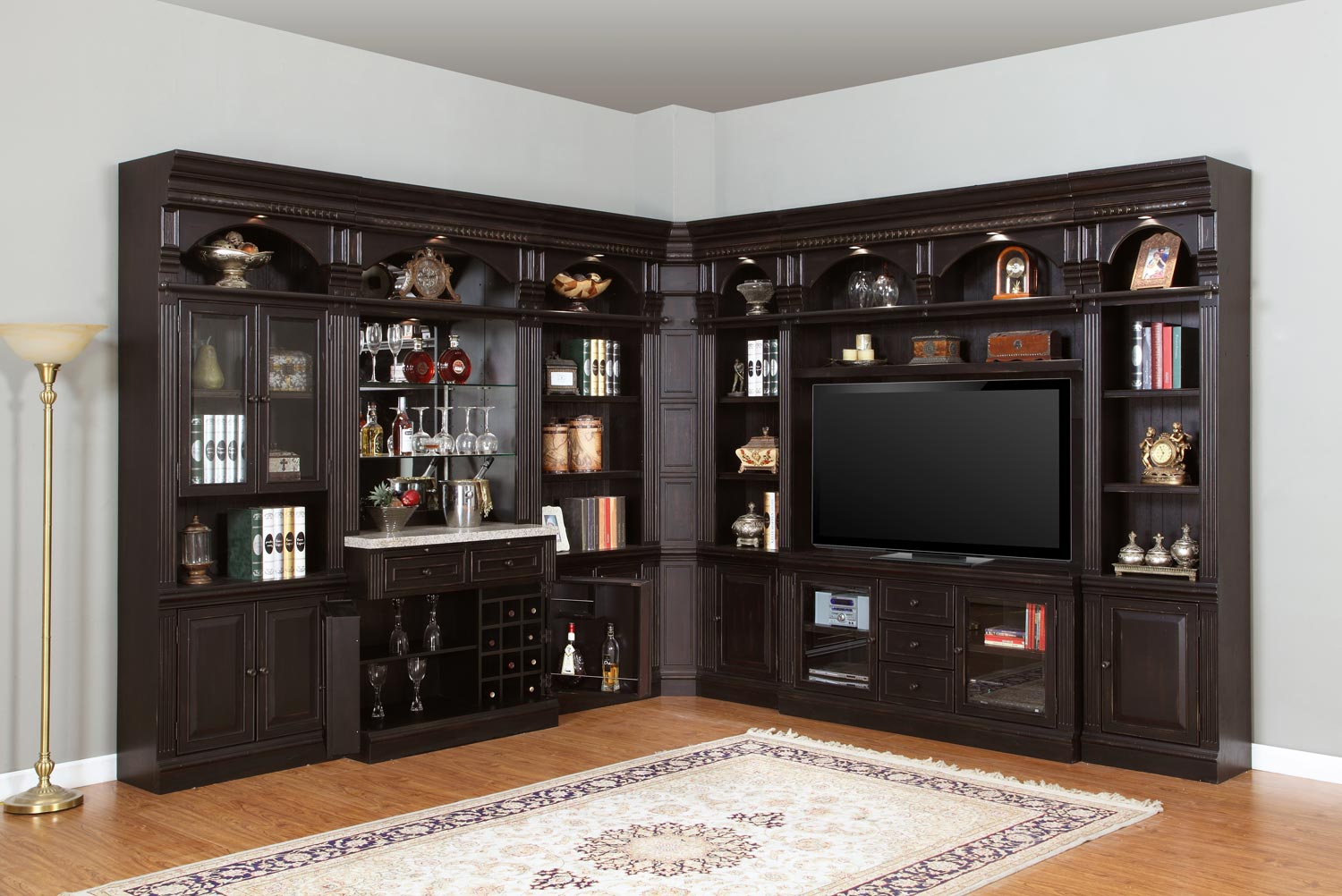 Parker House Venezia Library Wall Bar Set