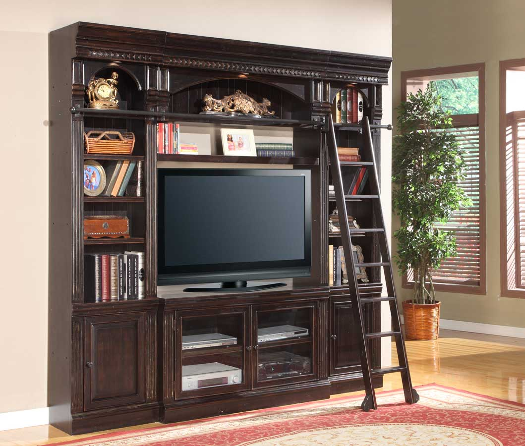 Parker House Venezia 50in Library Space Saver Entertainment Wall Unit