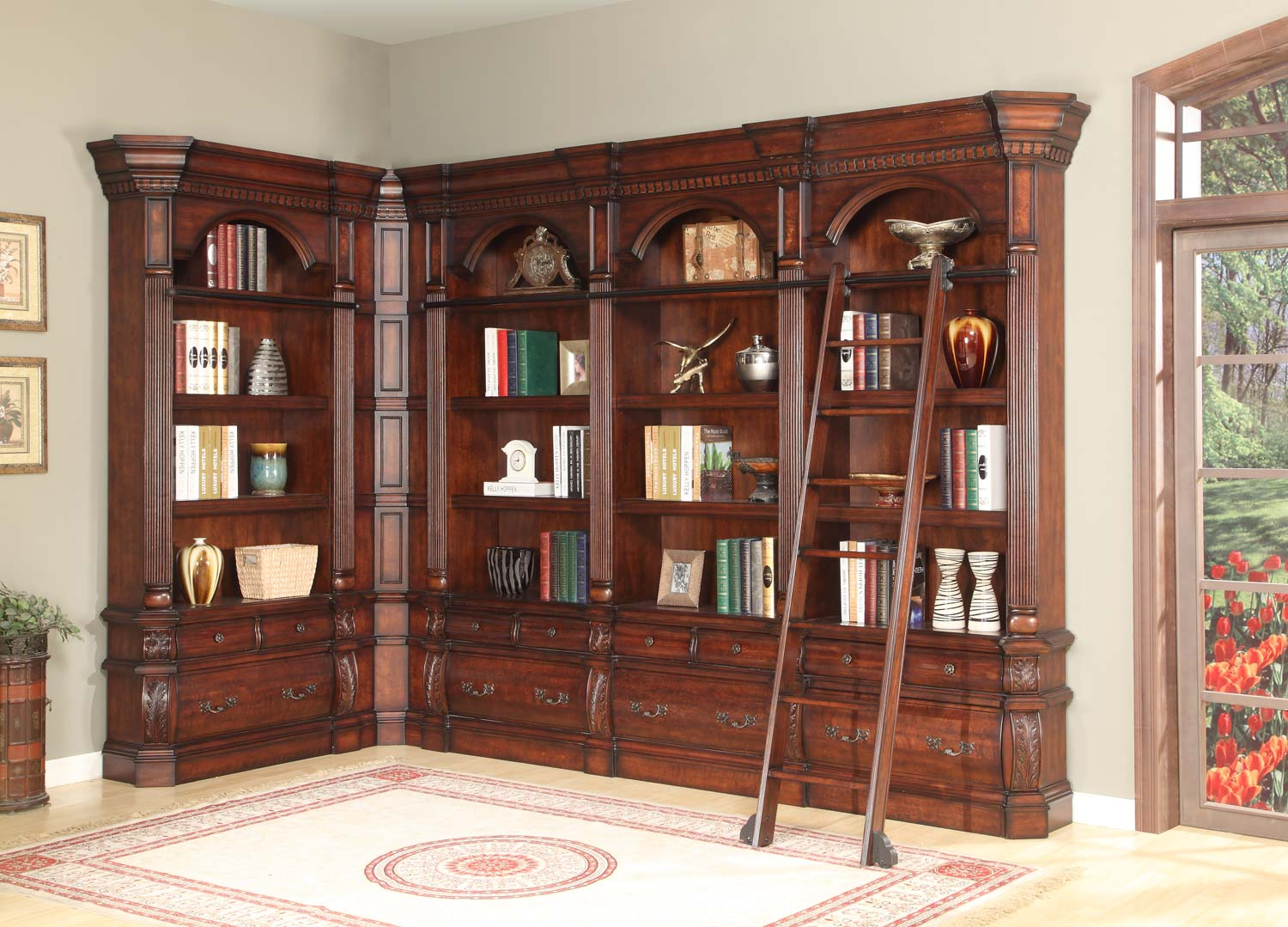 Parker House Versailles Museum Library Bookcase Set 2