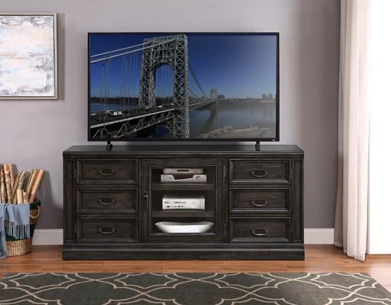 Parker House Washington Heights 66 in. TV Console