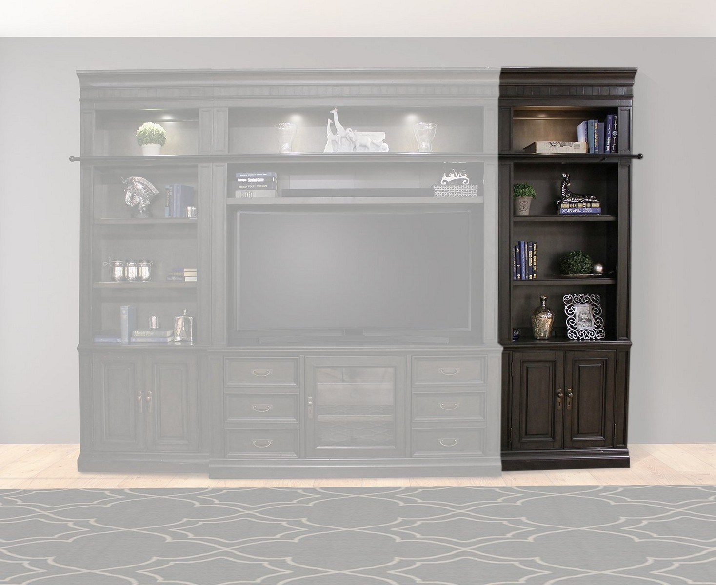 Parker House Washington Heights 32 in. Open Top Bookcase