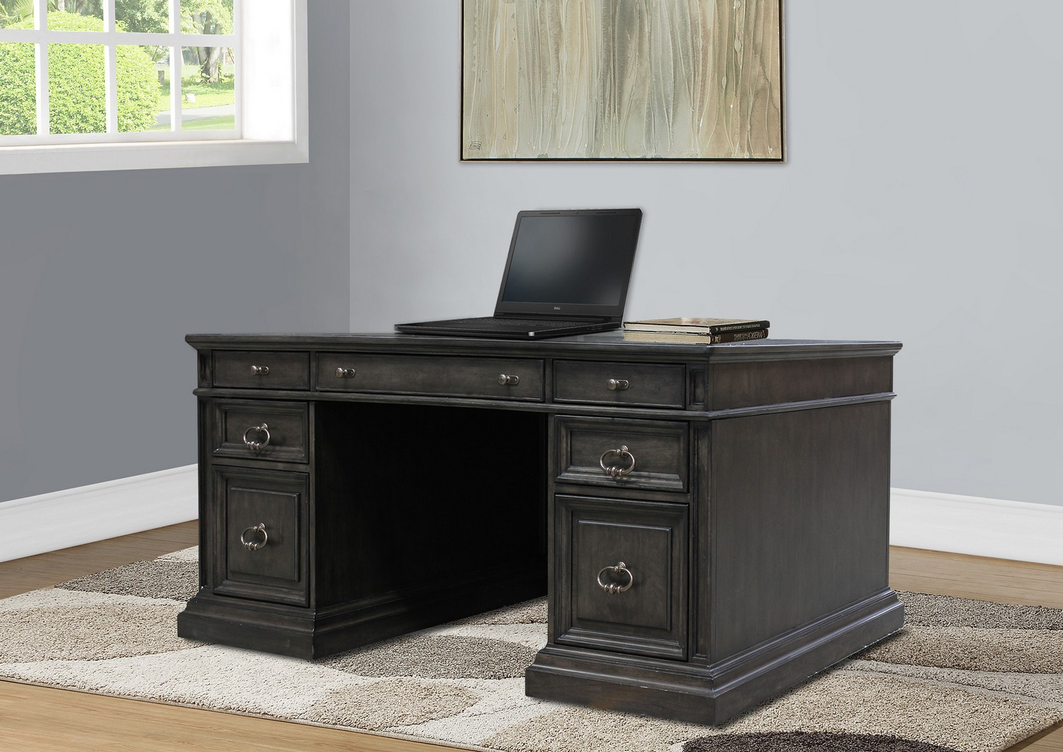 Parker House Washington Heights Double Pedestal Executive Desk