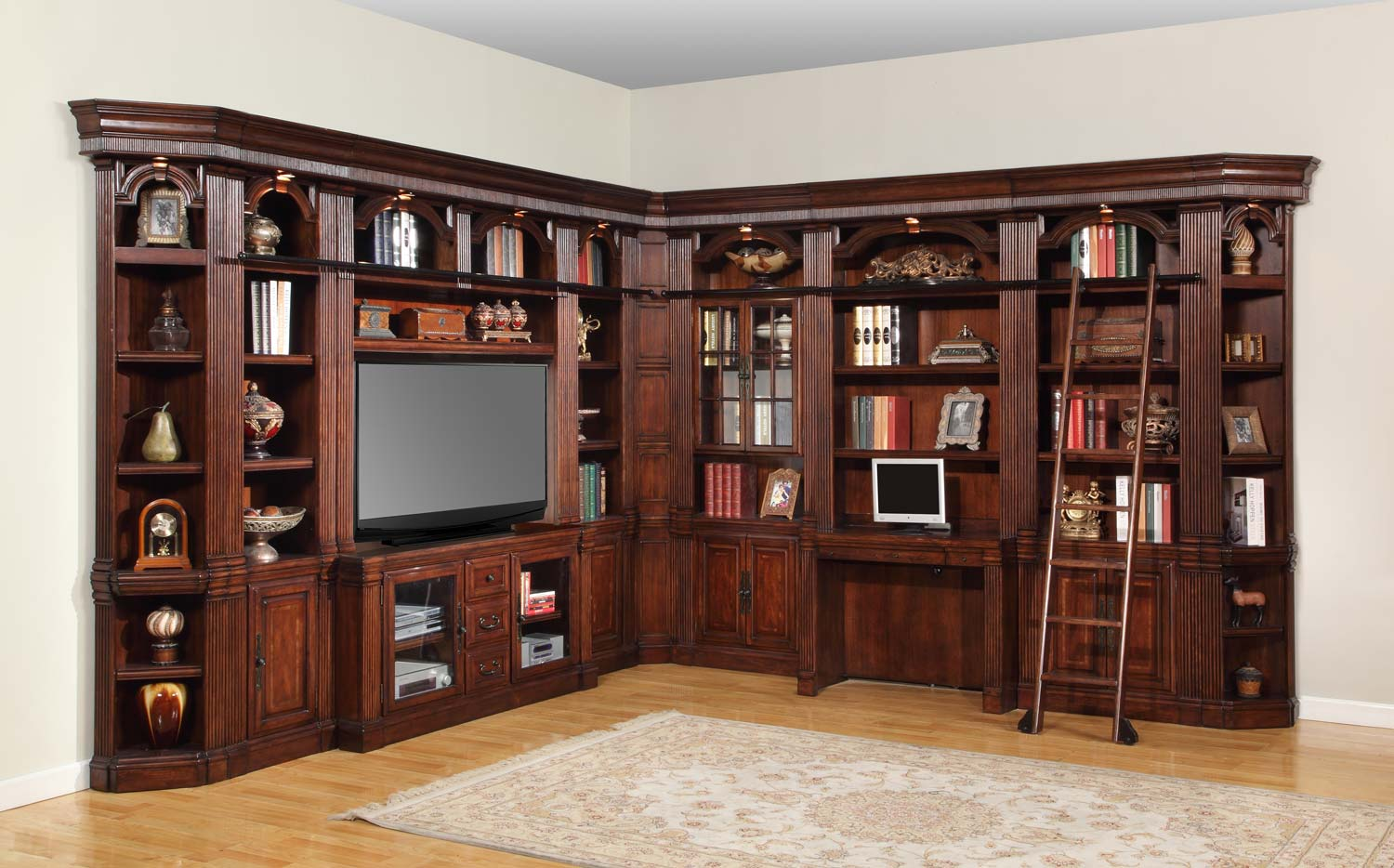 Parker house wellington library bookcase wall unit 5 ph for Wall units