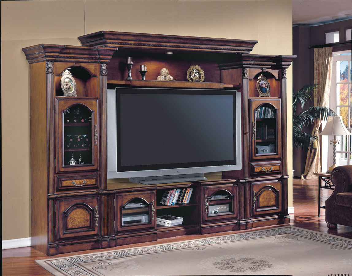 Parker House Portofino 4Pc Entertainment Center POR100-4R at ...