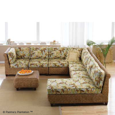 Carribean Breeze Sectional 5-Padmas Plantation