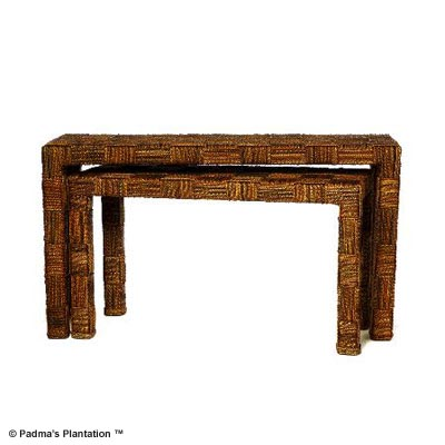 Padma's Plantation Nesting Console Table-Set of 2