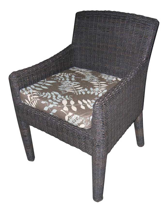 Padma's Plantation Outdoor Bay Harbor Arm Dining Chair