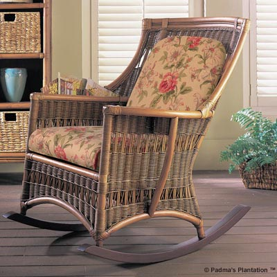 Padma's Plantation Wicker Rocking Chair