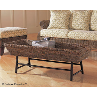 Padma's Plantation Basket Coffee Table