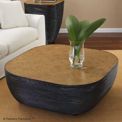 Congo Drum Coffee Table -Padmas Plantation