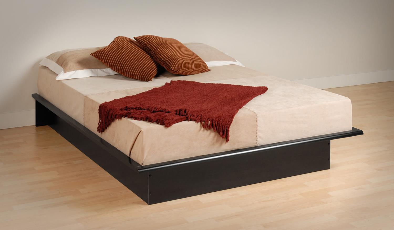 Prepac Black Platform Bed