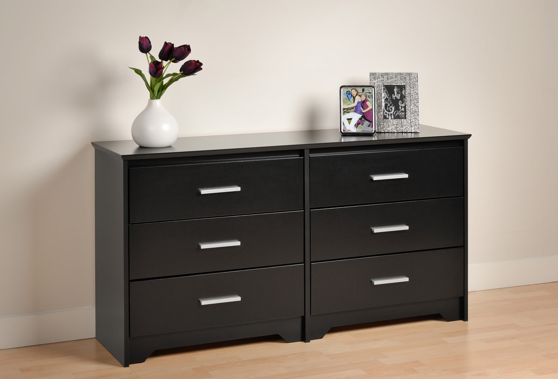 Prepac Coal Harbor 6 Drawer Dresser - Black