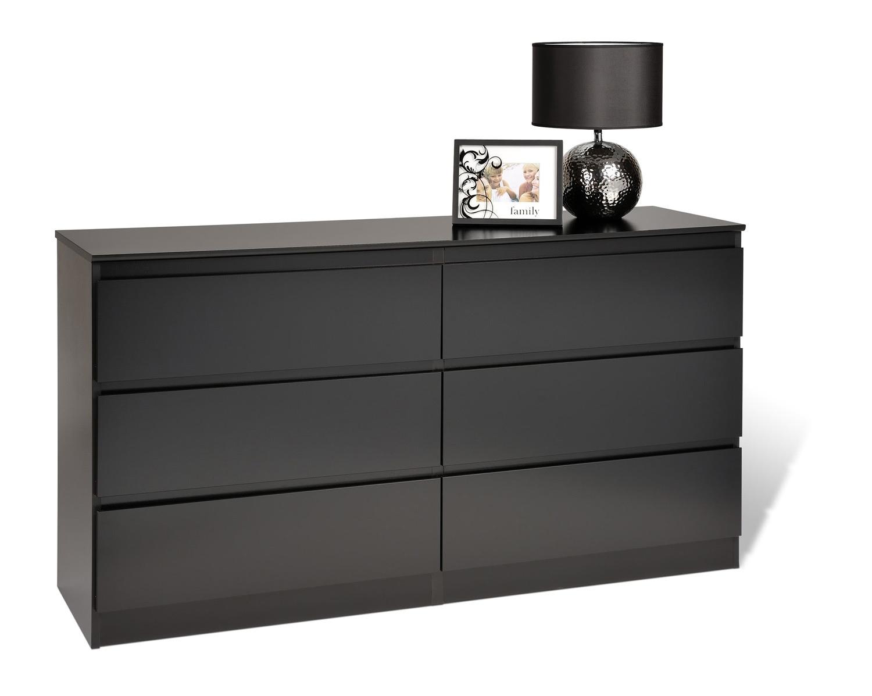Prepac Avanti 6 Drawer Dresser - Black