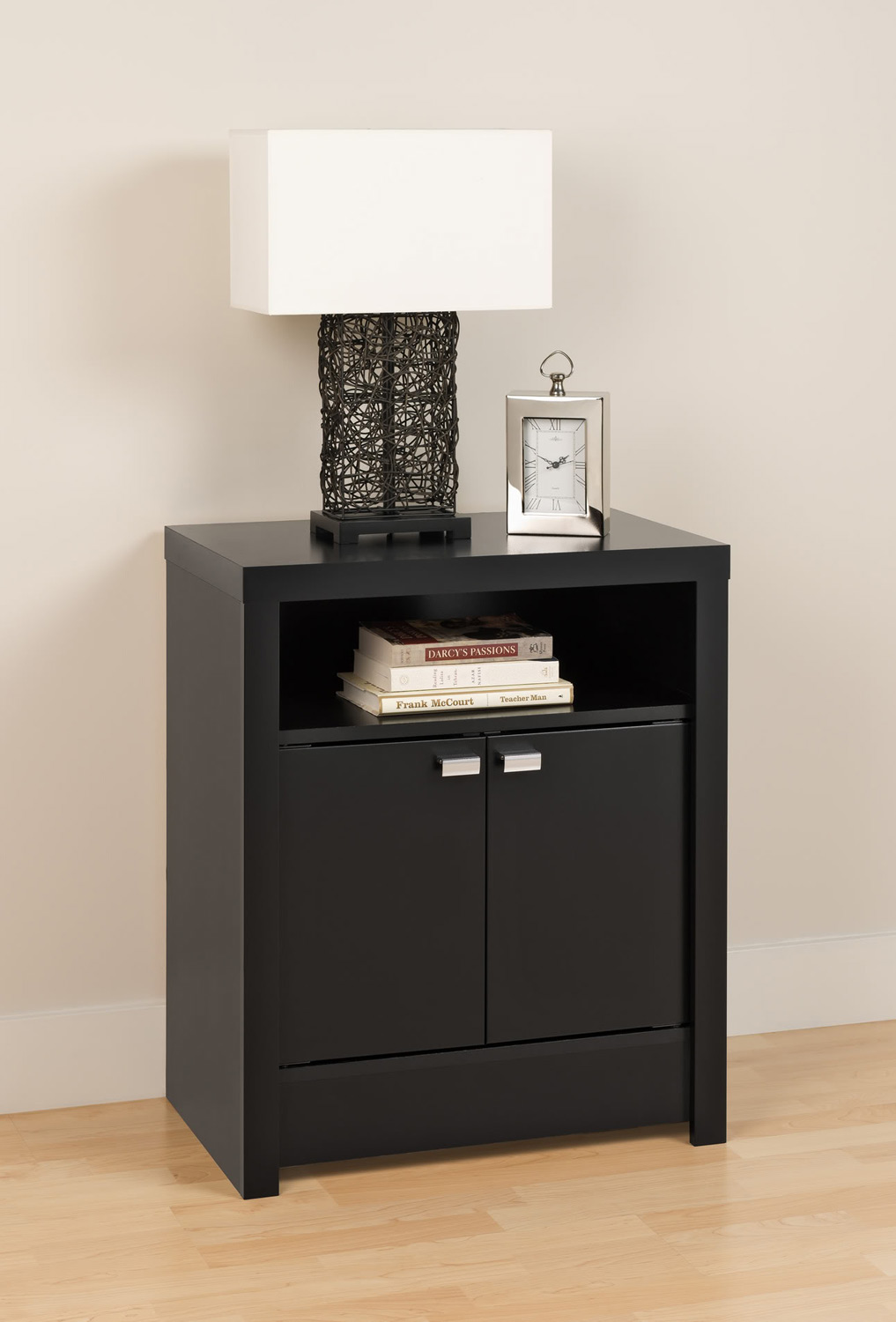 Prepac Series 9 - 2 Door Tall Night Stand - Black