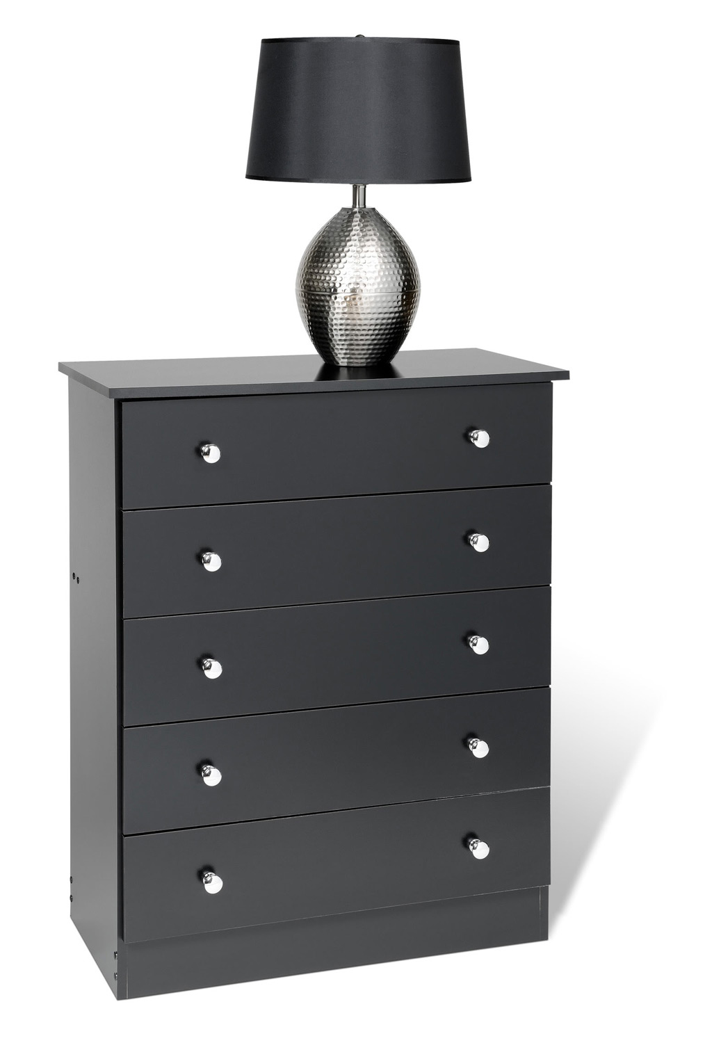 Prepac Edenvale 5 Drawer Chest - Black
