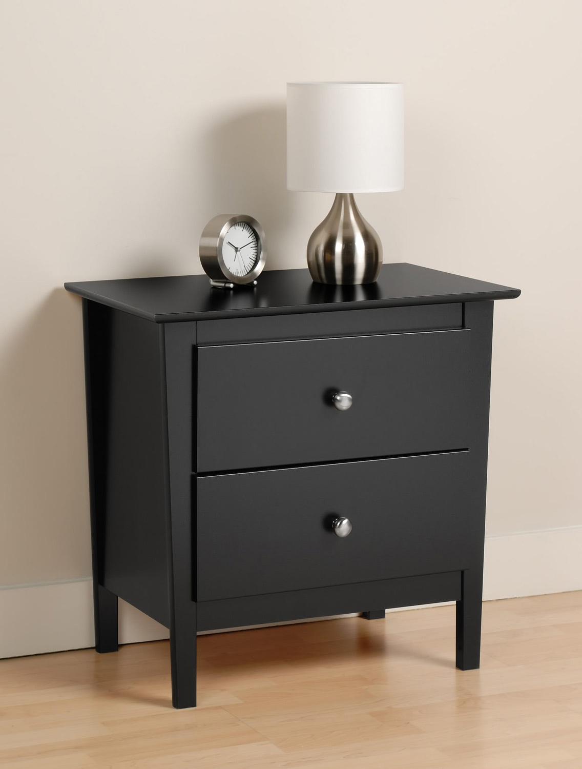 Prepac Berkshire 2 Drawer Night Stand - Black
