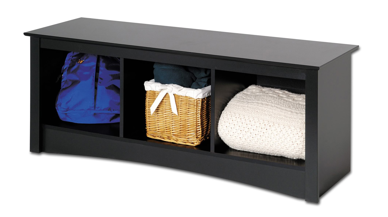 Prepac Sonoma Cubbie Bench - Black