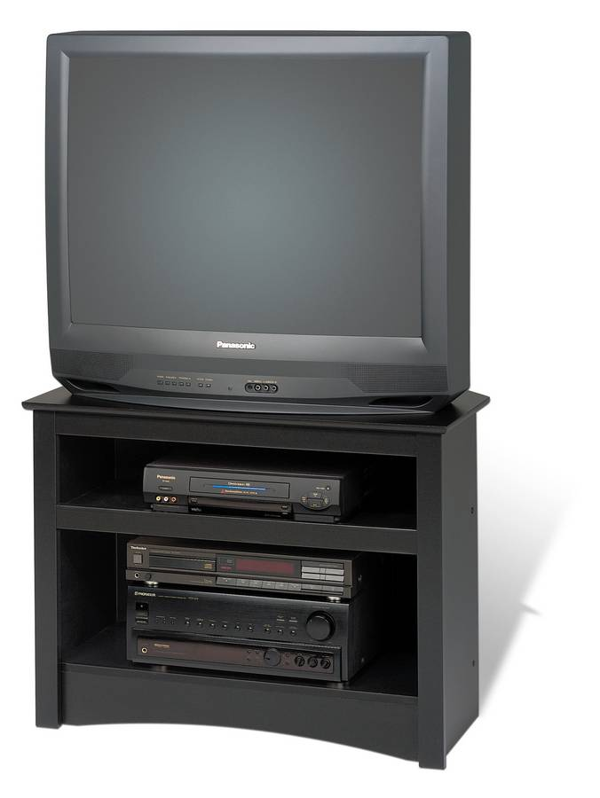 Prepac Black Sonoma Corner TV Stand