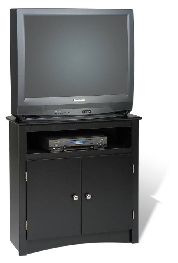 Prepac Black Sonoma Tall Corner TV Cabinet