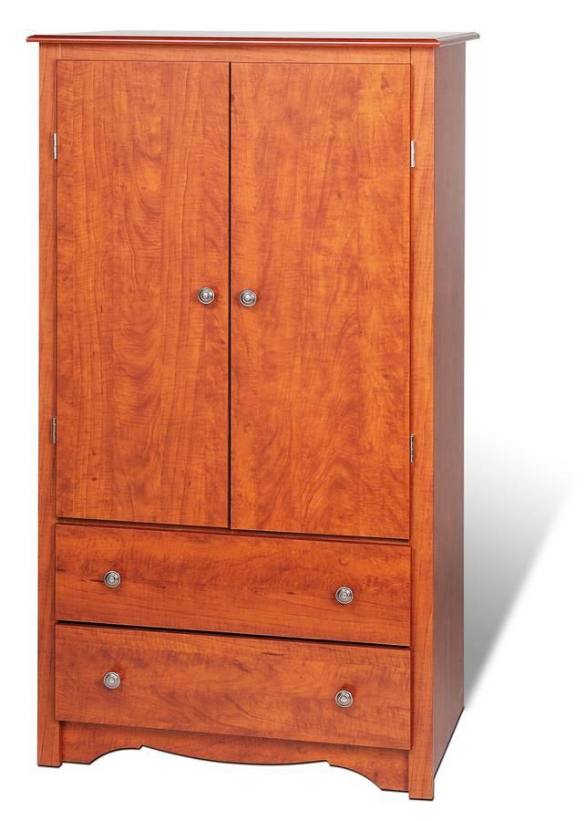 Prepac Cherry Monterey 2 Door Armoire