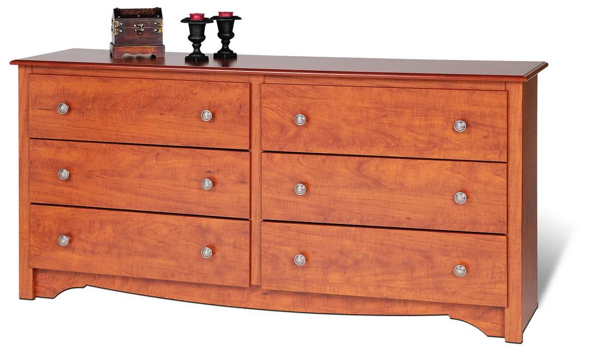 Prepac Cherry Monterey 6 Drawer Dresser