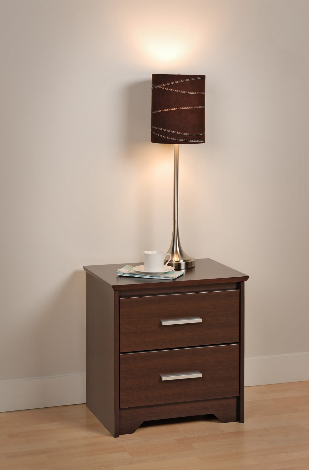 Prepac Coal Harbor 2 Drawer Night Stand - Espresso