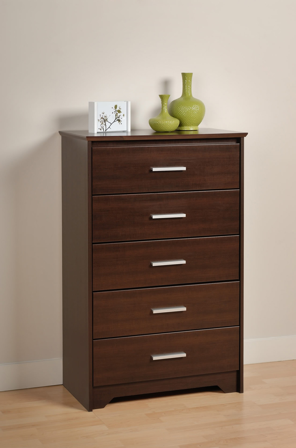 Prepac Coal Harbor 5 Drawer Chest - Espresso