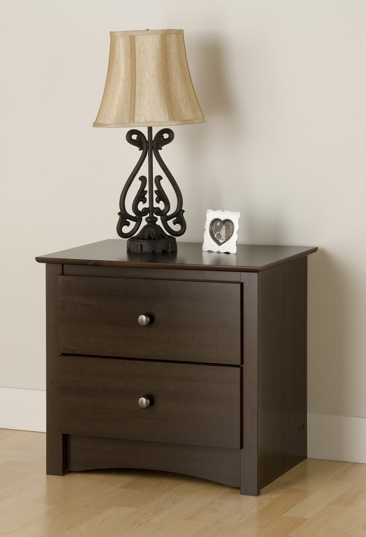 prepac fremont 2 drawer night stand