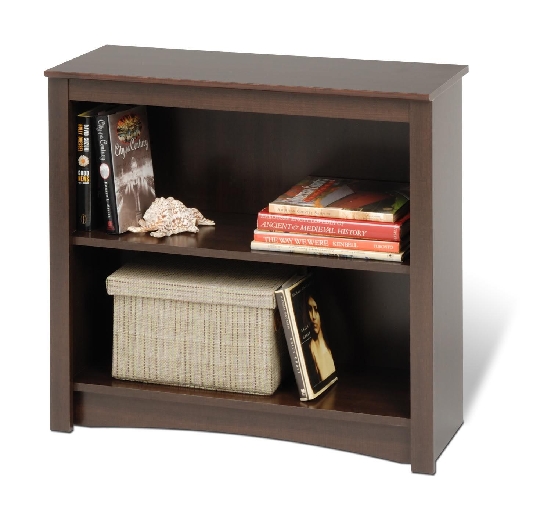 Prepac 29 Inch Sonoma 2-shelf Bookcase - Espresso