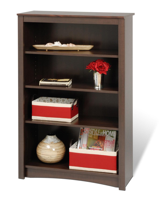 Prepac 48 Inch Sonoma 4-shelf Bookcase - Espresso
