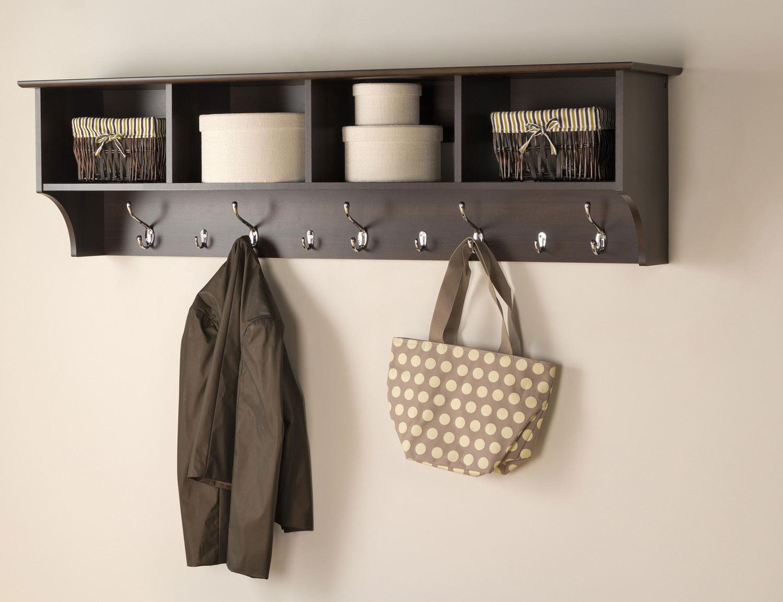 Prepac 60 Inch Wide Hanging Entryway Shelf - Espresso