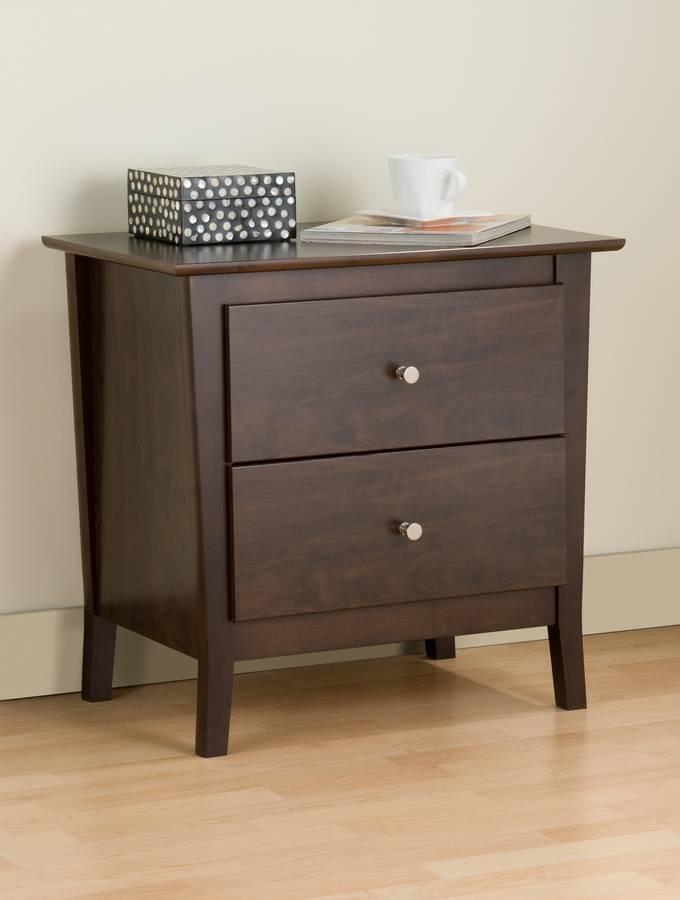 Prepac Espresso Manhattan 2-drawer Night Table