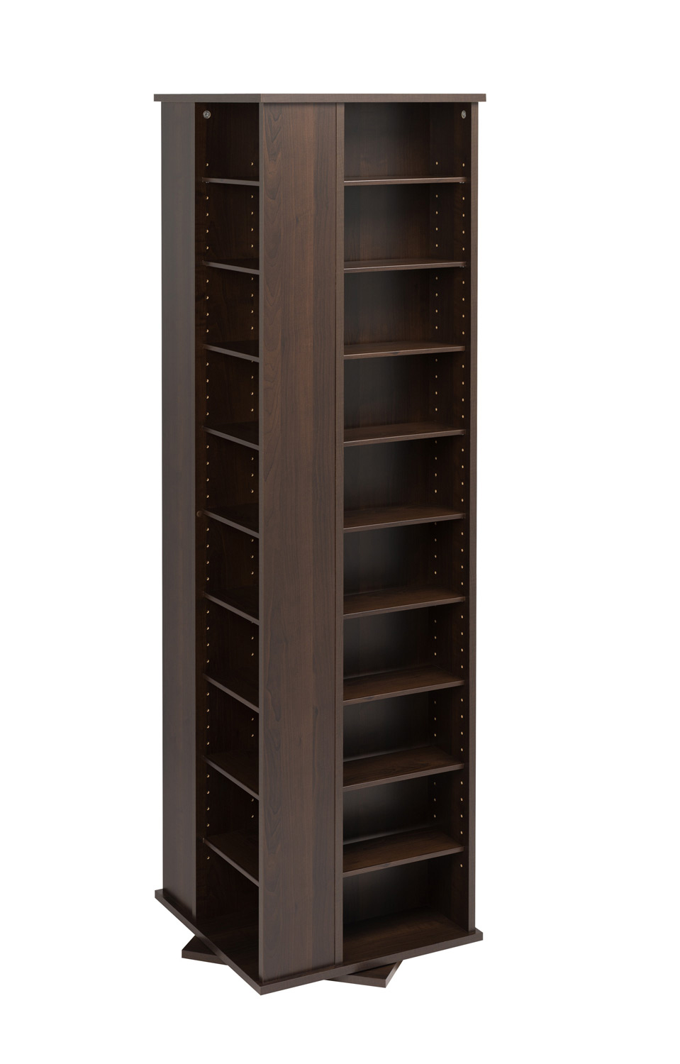 Prepac 4-Sided Large Spinning Tower - Espresso
