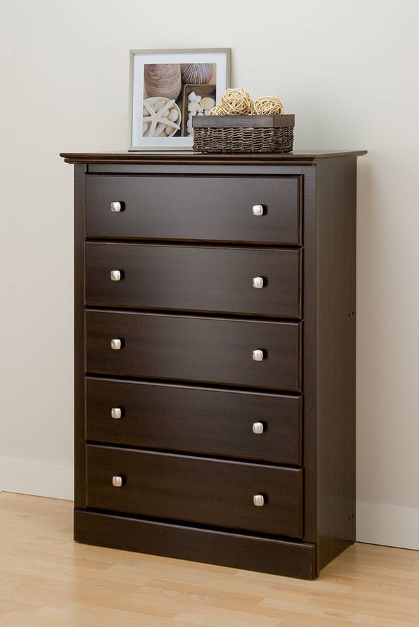 Cheap Prepac Manufacturing Espresso Regency 5 Drawer Chest