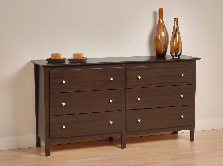Prepac Berkshire 6 Drawer Dresser - Espresso