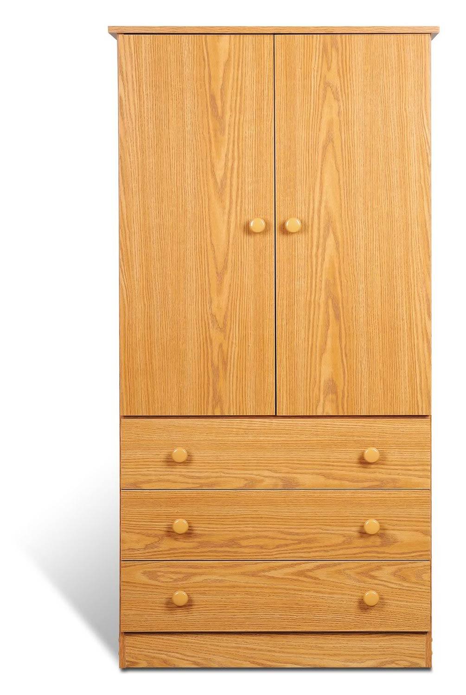 Prepac Edenvale 3 Drawer Wardrobe - Oak
