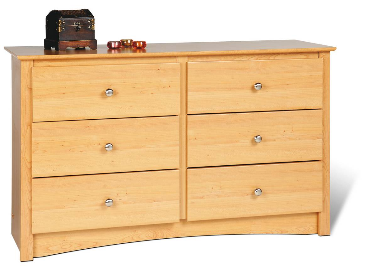 Prepac Maple Sonoma Condo Sized 6 Drawer Dresser