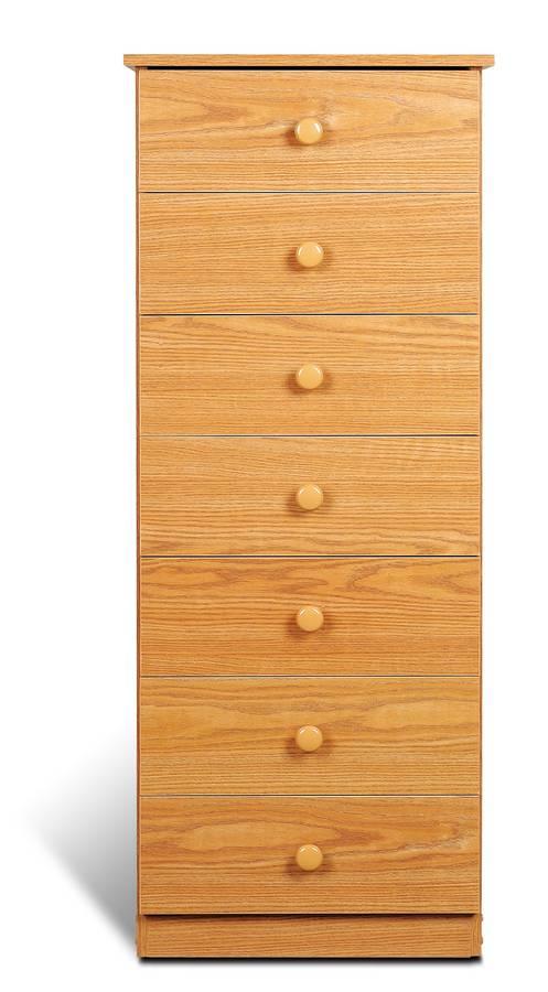 Prepac Oak 7 Drawer Lingerie Chest