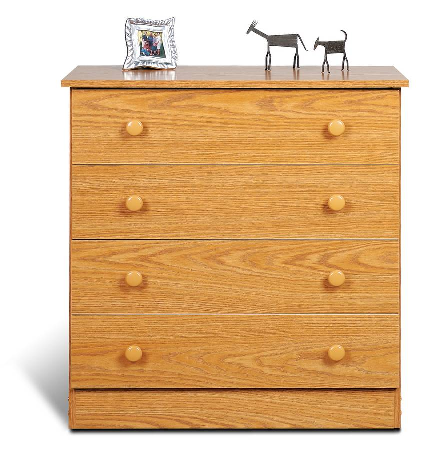 Prepac Oak 4 Drawer Chest