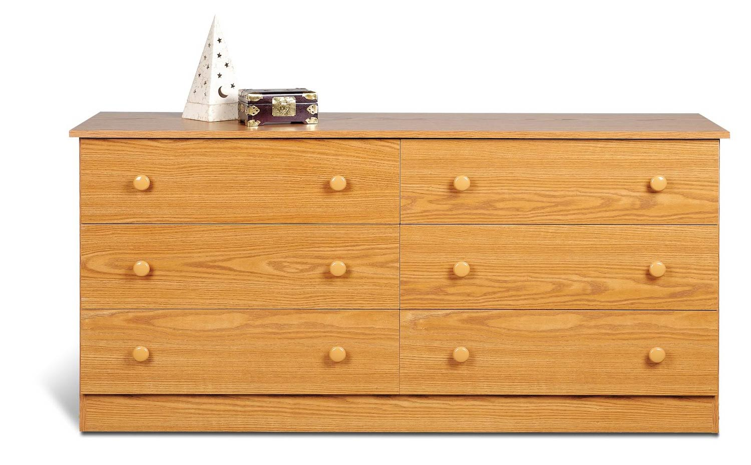 Prepac Edenvale 6 Drawer Dresser - Oak