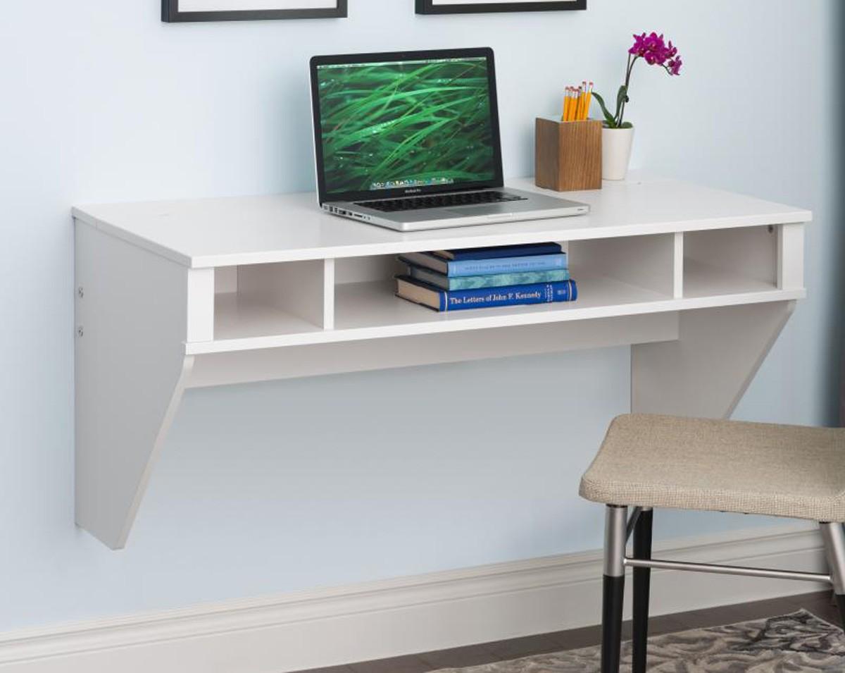 Prepac Furniture Designer Floating Desk White PR WEHW 0500 1 p