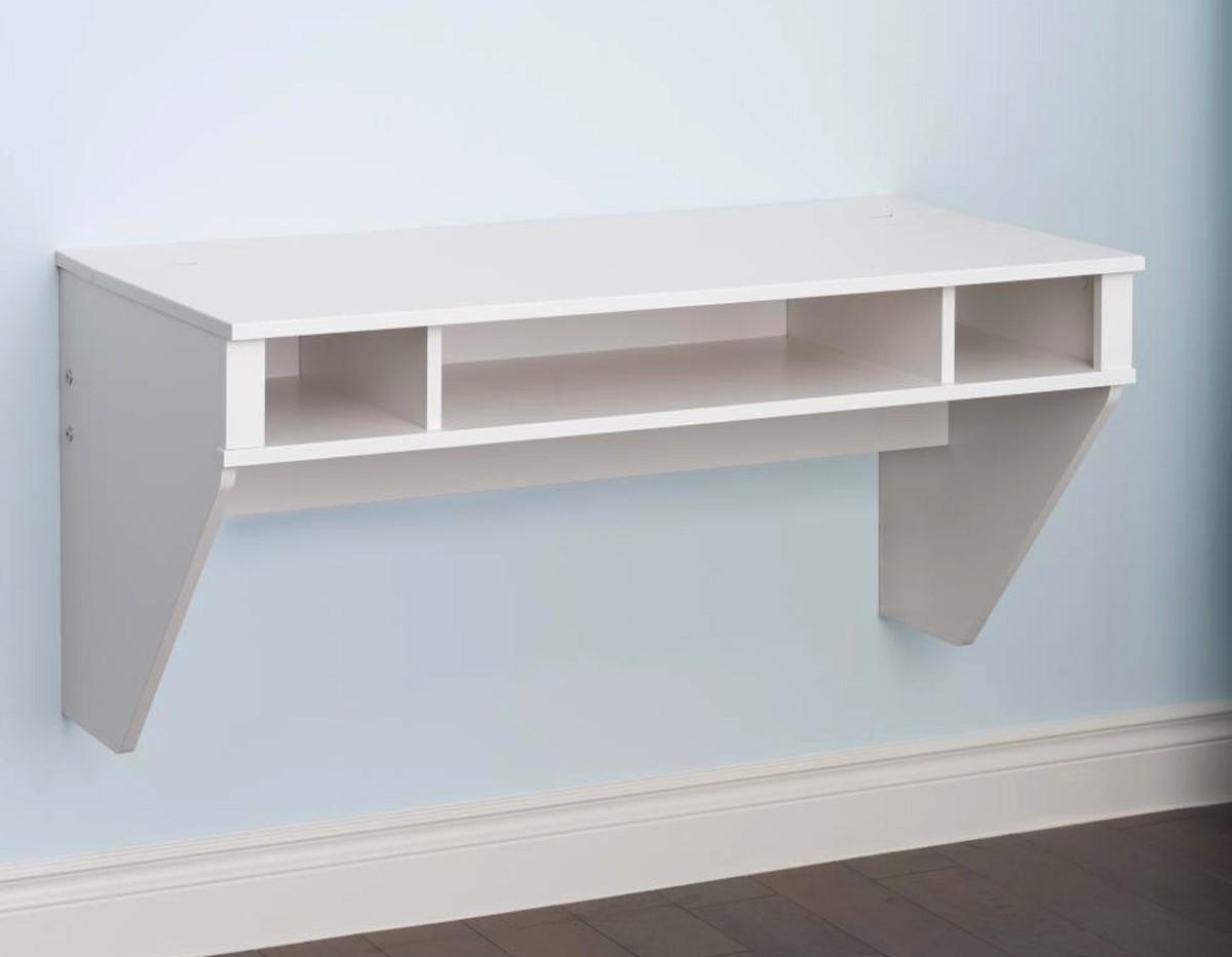 Prepac Designer Floating Desk - White