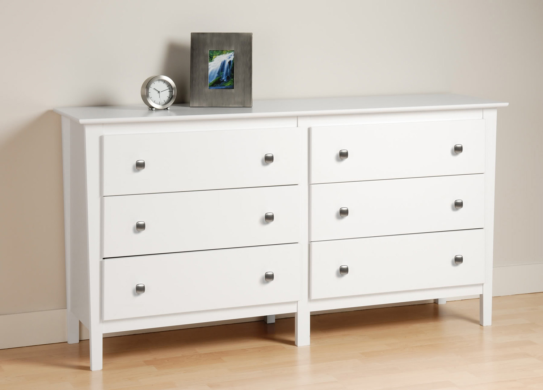 Prepac Berkshire 6 Drawer Dresser - White