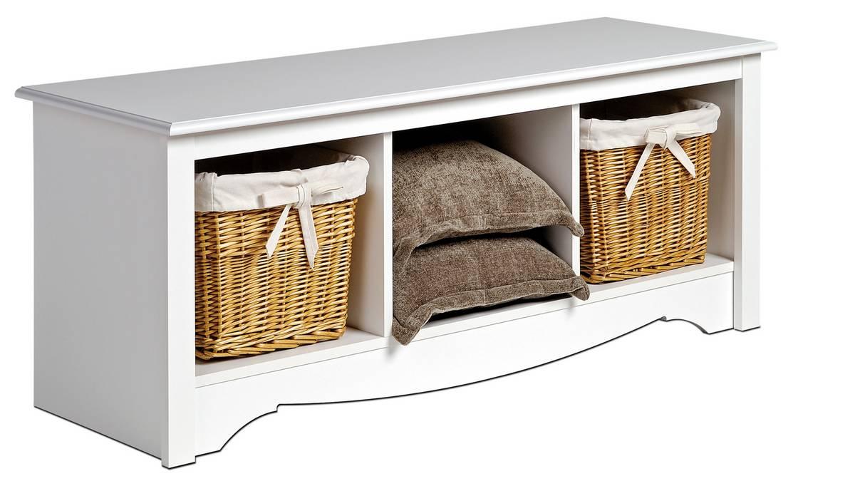 Prepac White Monterey Cubbie Bench