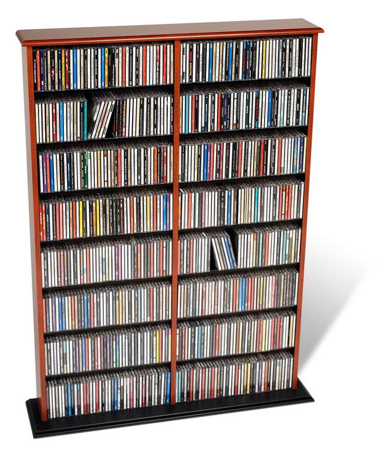 Prepac Cherry-Black Double Width Wall Storage