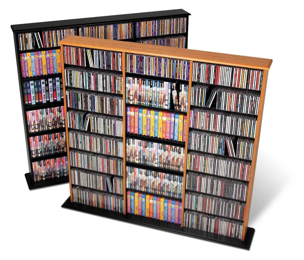 Prepac Oak-Black Triple Width Wall Storage