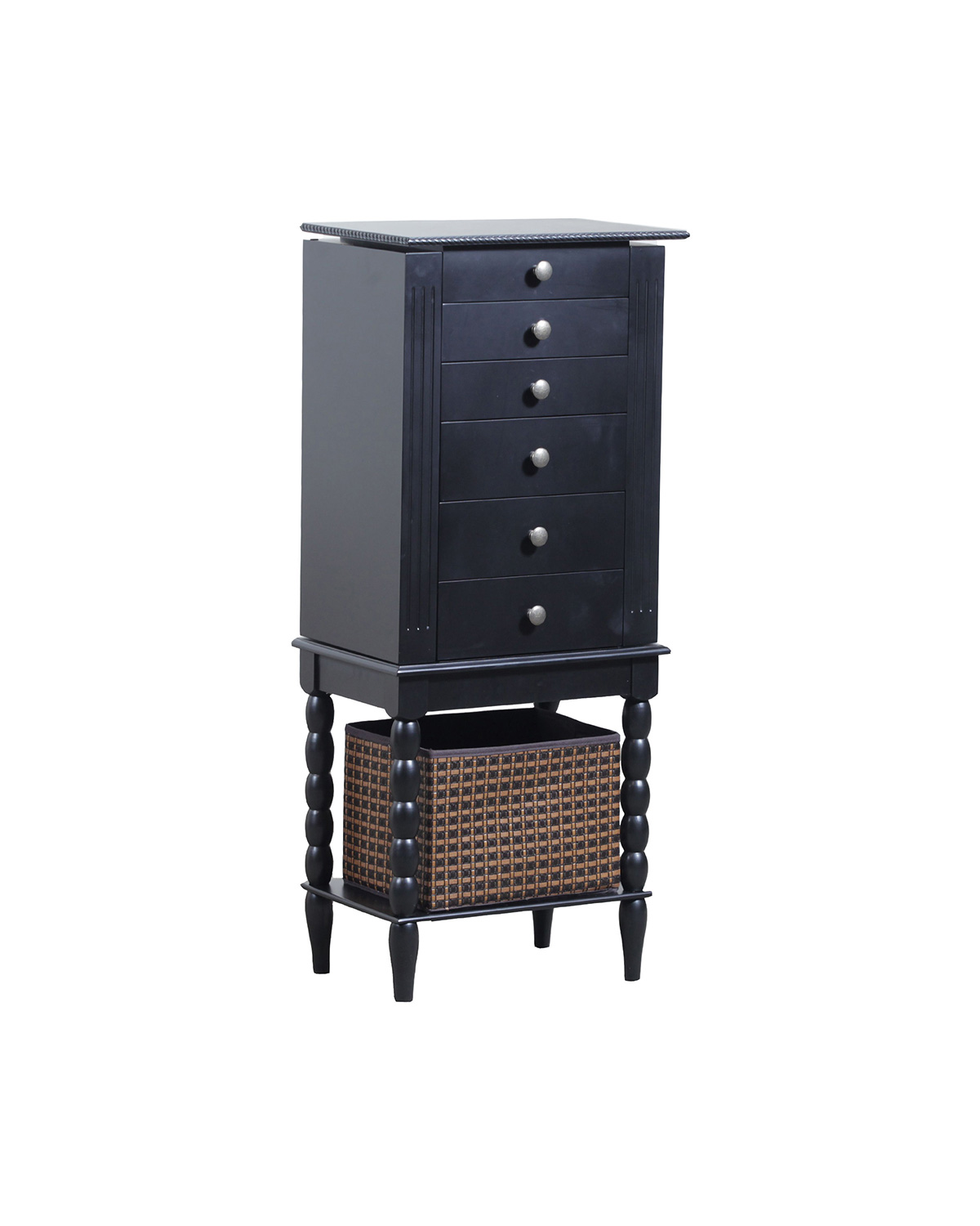 Powell Alanis Jewelry Armoire - Black