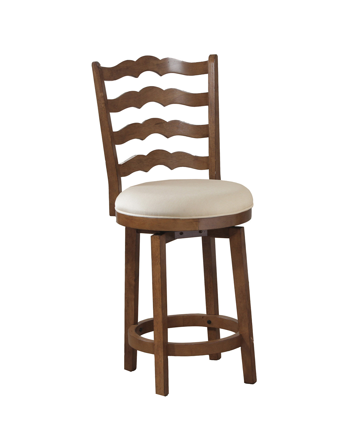Powell Big And Tall Ladderback Counter Stool Chestnut Pw