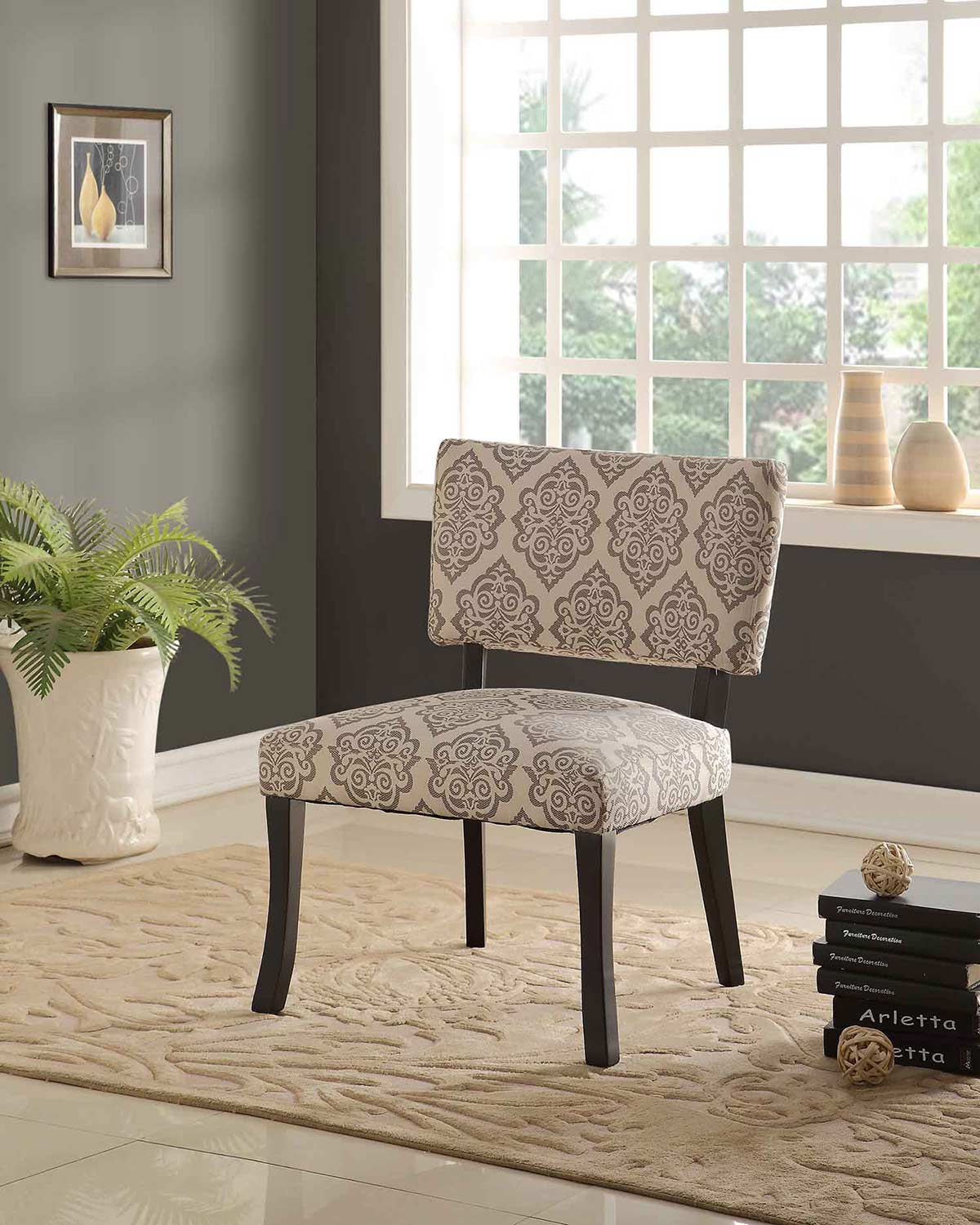 Powell Bella Accent Chair - Black