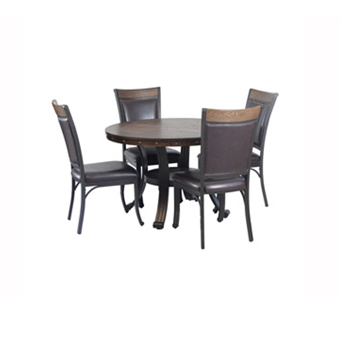 Powell Franklin 5 Piece Dining Group - Rustic Umber
